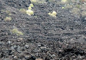 Kuamoo Burials - The remains of the fallen on both sides were buried in these terraces of lava rock