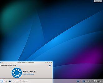 Kubuntu - Image: Kubuntu 14 10