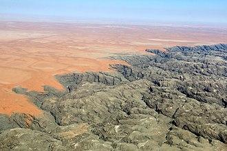 Kuiseb River - Image: Kuiseb bird eye view