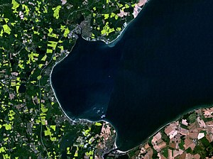 Bay of Lübeck - Satellite picture of the Bay of Lübeck