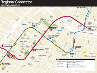 Regional Connector - Map of approved route of Regional Connector Corridor.