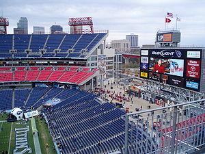Nissan Stadium - Downtown Nashville as viewed from the upper decks of Nissan Stadium