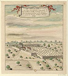 Estampe représentant La Devinière, lieu d'enfance de l'écrivain.