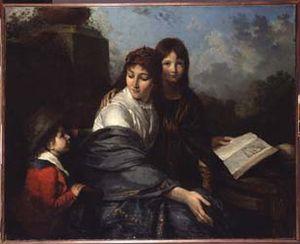 Jean-Pierre Saint-Ours - Image: La Lecture de la fable Saint Ours 1796