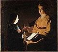 La Tour (d'après) - L'éducation de la Vierge, Louvre.jpg