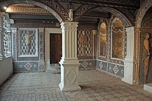 Claude d'Urfé - The 'salle des rocailles' in the château de La Bastie d'Urfé