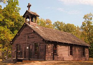 Lac qui Parle Mission - The reconstructed Lac qui Parle Mission