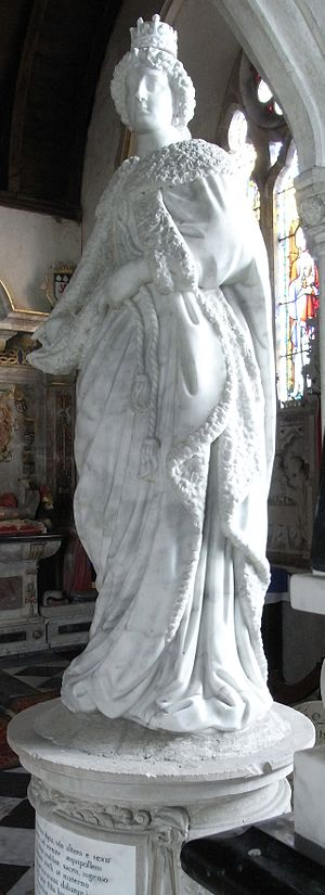 Rachel Bourchier, Countess of Bath - Memorial to Rachel, Countess of Bath, in St Peter's Church, Tawstock