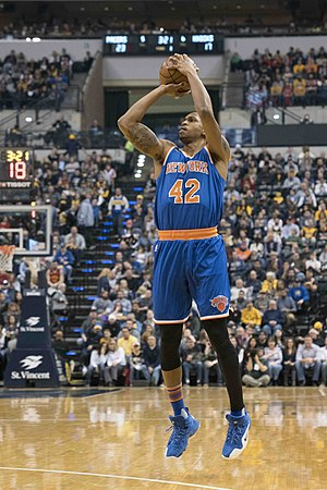 Lance Thomas - Thomas with the Knicks in January 2017