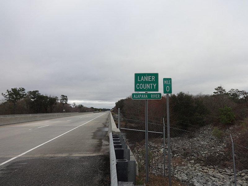 File:Lanier County border, US84 EB.JPG