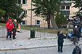 Lasse Åberg och Jon Skolmen vid inspelningen av The Stig-Helmer Story 100927 01.jpg