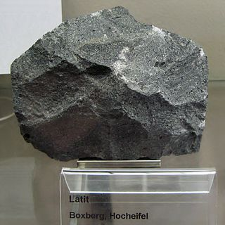 Latite igneous rock