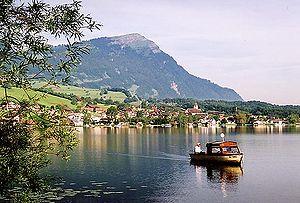 Rigi - Rigi behind Lake Lauerz