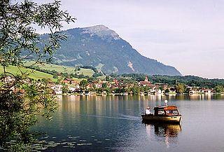 Lake Lauerz lake in Switzerland