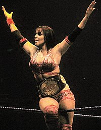 Layla als WWE Women's Champion, 2010.