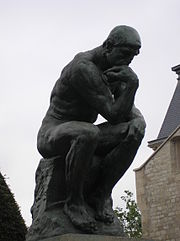 Le Penseur in the Jardin du Musée Rodin, Paris May 2005.jpg