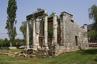 Roman temple of Bziza Cultural heritage building in Bziza, Lebanon