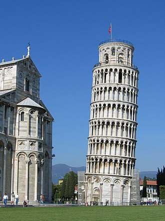 Leaning Tower of Pisa - Leaning Tower of Pisa in 2004