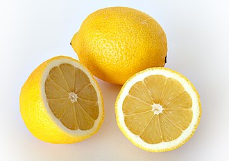 PH - Lemon juice tastes sour because it contains 5% to 6% citric acid and has a pH of 2.2. (high acidity)
