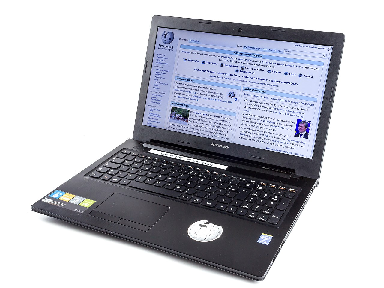 File Lenovo G500s Laptop 2905 Jpg Wikimedia Commons