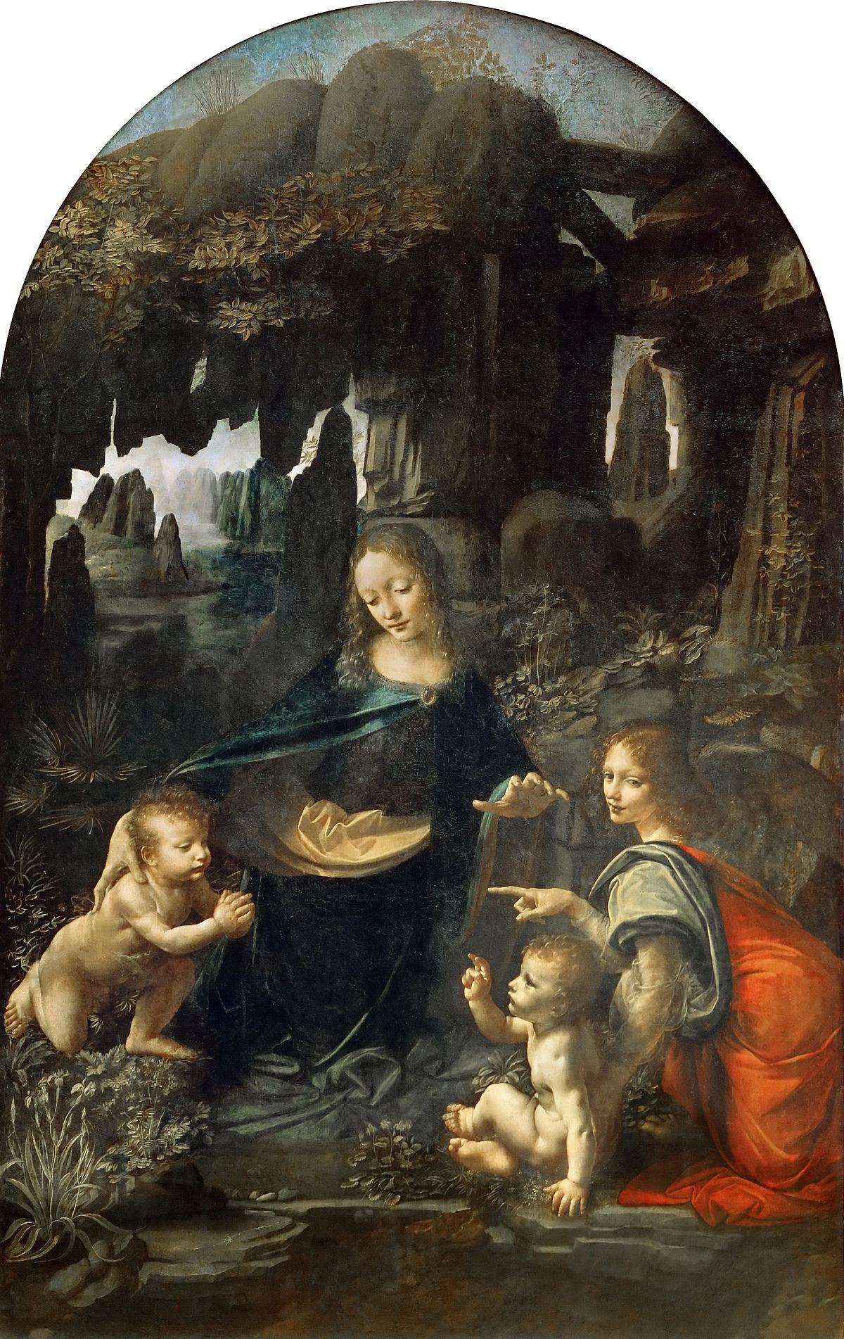 The Virgin of the Rocks Louvre Museum Paris