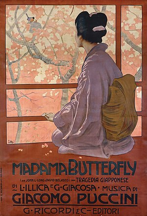 Un bel dì vedremo - Leopoldo Metlicovitz, 1904 - Madama Butterfly