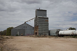 Old grain elevator in Levelland.