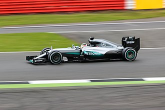 2016 British Grand Prix - Lewis Hamilton started from pole position after posting the fastest time in qualifying.