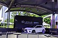 Lexus RX 300 white at Walk of Fame 20191005b.jpg