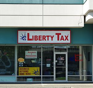Liberty Tax Service - A typical location in a strip mall in Hillsboro, Oregon