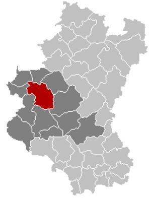 Libin - Image: Libin Luxembourg Belgium Map