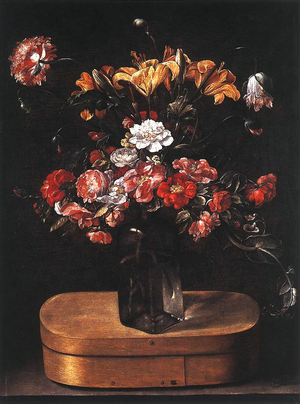 Jacques Linard - Image: Linard, Jacques Bouquet on Wooden Box c. 1640