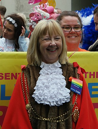 Newcastle City Council - Linda Wright, Lord Mayor of Newcastle upon Tyne, at Newcastle Pride 2017