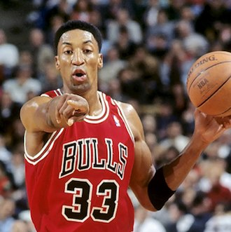 Scottie Pippen - Pippen with the Chicago Bulls in 1995