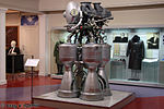 Liquid rocket engine RD-214 for the first stage of Kosmos rocket in Memorial Museum of Cosmonautics.jpg