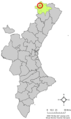 Localització de Villores respecte del País Valencià.png