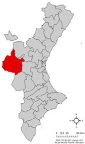 Localització de la Plana d'Utiel respecte del País Valencià.png