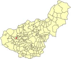 Situación de Peñuelas en la provincia de Granada