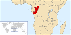 Location of the Republic of the Congo
