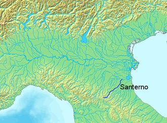 Santerno - The Santerno river