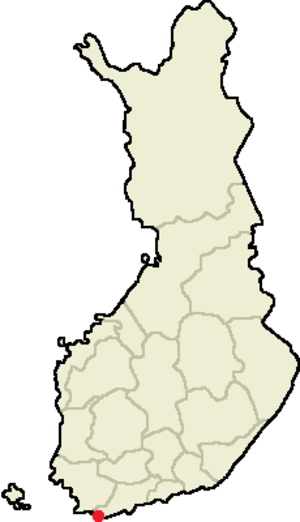 Hanko Peninsula - Location of the Hanko Peninsula