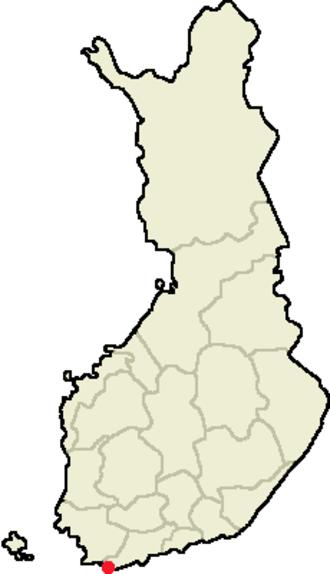 Hanko Peninsula - Location of the Hanko Peninsula