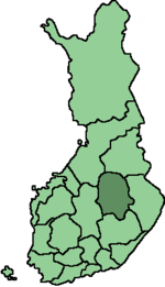 Location of Pohjois-Savo in Finland.png
