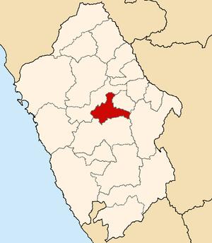 Carhuaz Province - Image: Location of the province Carhuaz Ancash