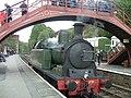 Locomotive 29 at Goathland station under footbridge - geograph.org.uk - 1448667.jpg