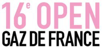 "Logo of the ""Open Gaz de France 2008"" tournament"