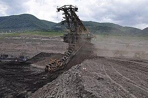 Lom ČSA - Lom ČSA - Excavator at ČSA mine
