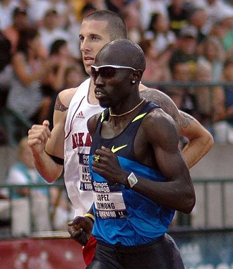 United States Olympic Trials (track and field) - Lopez Lomong and Andy McClary at the 2008 Olympic Trials in Eugene