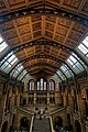 London - Cromwell Road - Natural History Museum 1881 by Alfred Waterhouse - Arch over the Central Hall - View North towards Charles Darwin's Statue.jpg