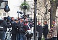 London 190 German TV reporter outside 10 Downing street reporting the death of Margaret Thatcher (8633303041).jpg